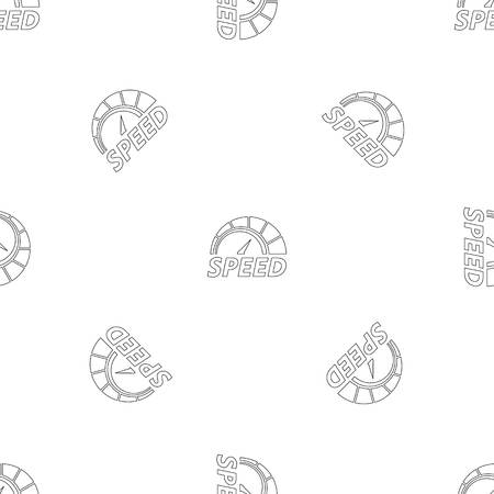 Abstract speedometer pattern seamless vector repeat geometric for any web design