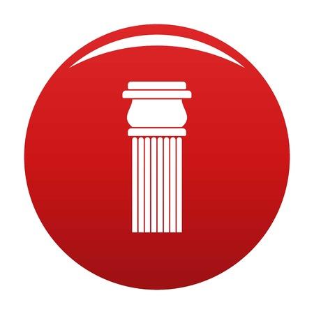 Stone column icon vector red