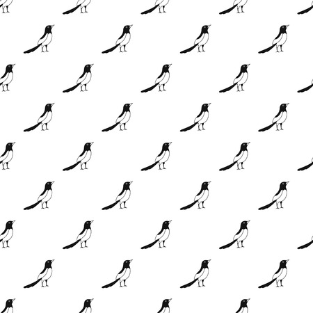Asian magpie pattern seamless vector repeat geometric for any web design Imagens - 124743325
