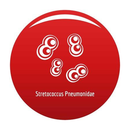 Stretococcus pneumonidae icon vector red Illustration