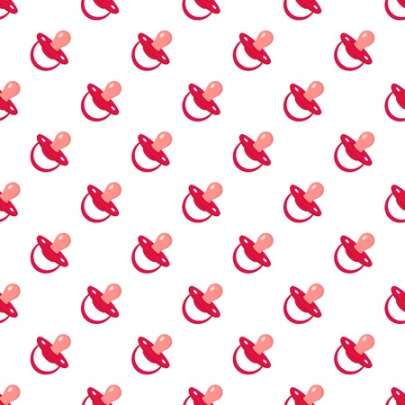 Child nipple pattern seamless vector repeat for any web design Imagens - 124743328