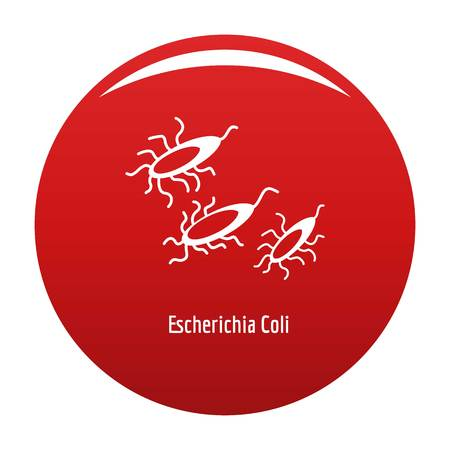 Escherichia Coli icon vector red