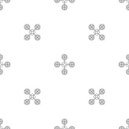 Spy drone pattern seamless vector repeat geometric for any web design