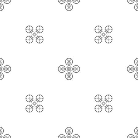 Modern drone pattern seamless vector repeat geometric for any web design Imagens - 124743344