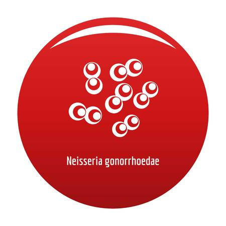 Neisseria gonorrhoedae icon vector red Illustration