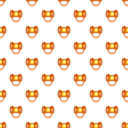 Baby nipple pattern seamless vector repeat for any web design