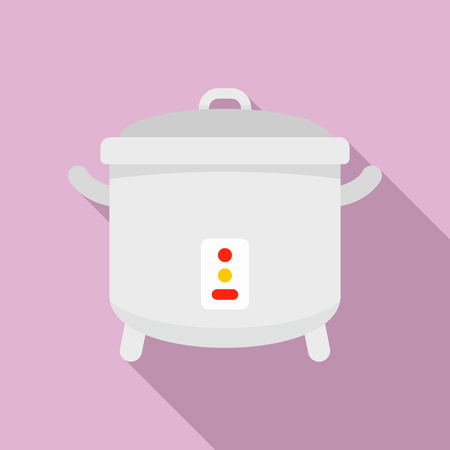 Cooker icon, flat style