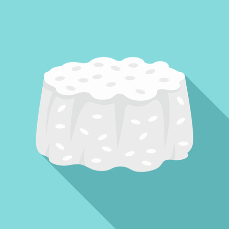 Rice cupcake icon. Flat illustration of rice cupcake vector icon for web design
