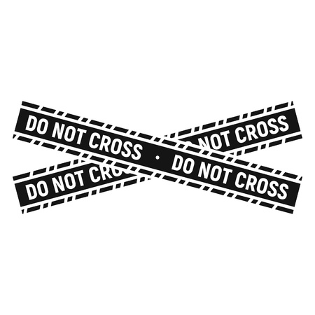 Do not cross police line icon, simple style