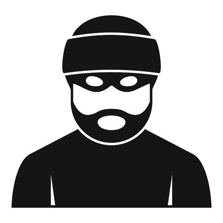 Criminal man icon, simple style
