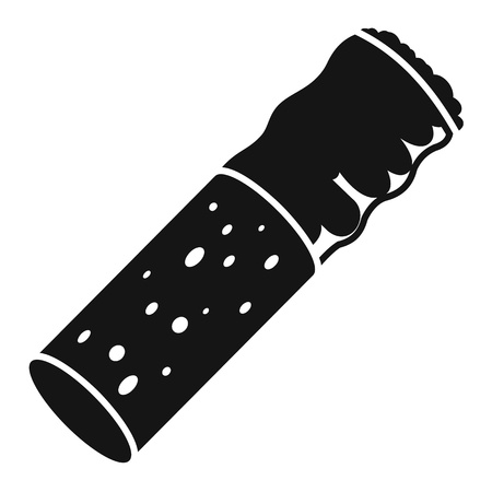 Cigarette goby icon, simple style