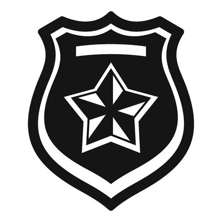 Police emblem icon, simple style Illusztráció