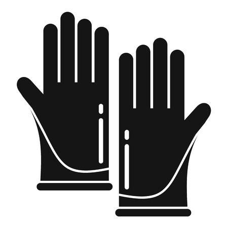 Forensic lab gloves icon. Simple illustration of forensic lab gloves vector icon for web design isolated on white background Illustration