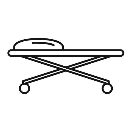 Forensic laboratory cart desk icon. Outline forensic laboratory cart desk vector icon for web design isolated on white background Çizim