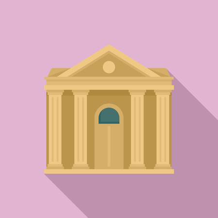 Courthouse institution icon, flat style Banque d'images - 118550420