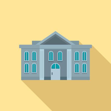 Icône du palais de justice administratif, style plat