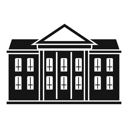 Classic courthouse icon, simple style Illustration