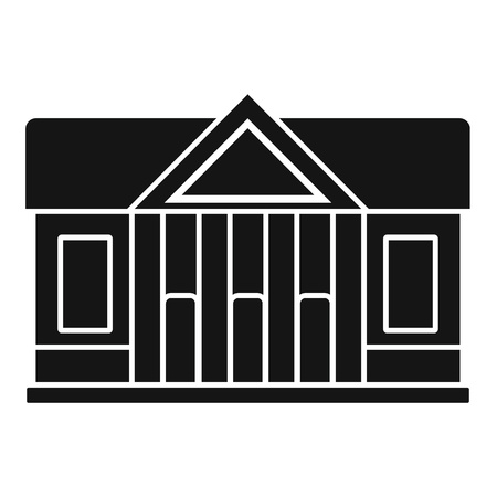 Window courthouse icon, simple style
