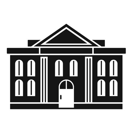 Administrative courthouse icon, simple style