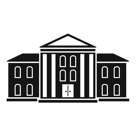 Supreme courthouse icon, simple style