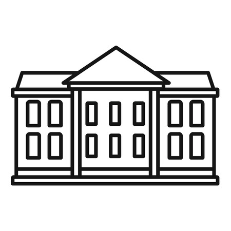 Classic courthouse icon, outline style