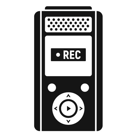 Modern dictaphone icon, simple style