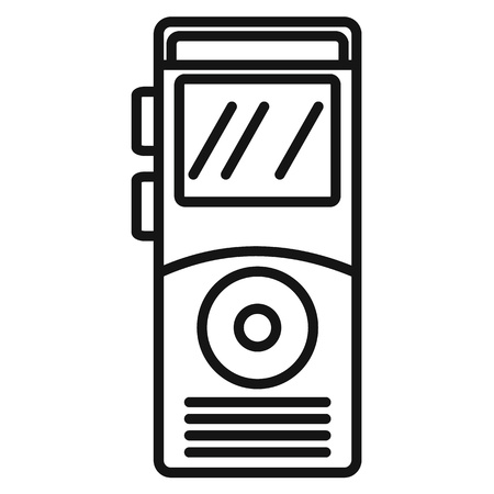Dictaphone icon, outline style Illustration