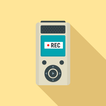 Modern dictaphone icon. Flat illustration of modern dictaphone vector icon for web design Illustration