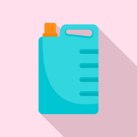 Cleaner canister icon, flat style