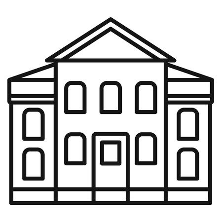 Icono de palacio de justicia de la calle. Esquema de la calle Palacio de justicia icono vectoriales para diseño web aislado sobre fondo blanco.
