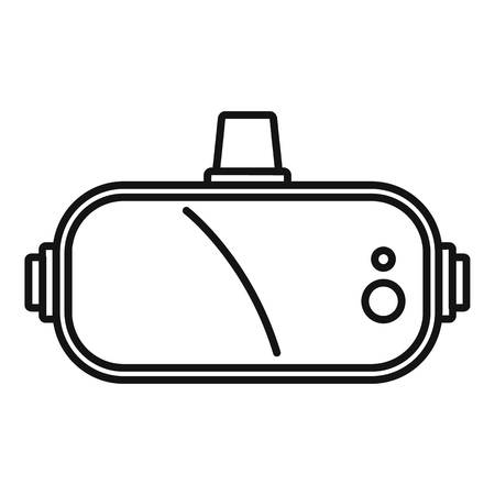 Game goggles icon. Outline game goggles vector icon for web design isolated on white background