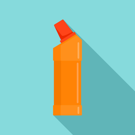 Toilet cleaner bottle icon. Flat illustration of toilet cleaner bottle vector icon for web design
