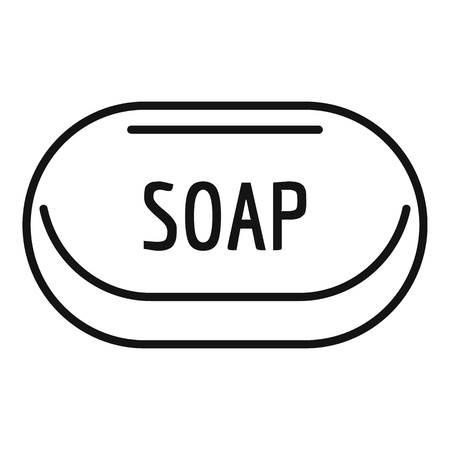 Soap brick icon, outline style