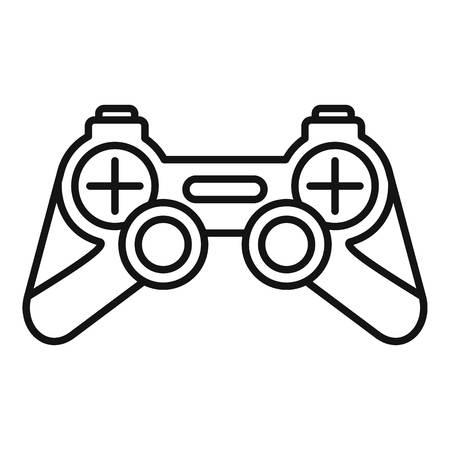 Joystick icon. Outline joystick vector icon for web design isolated on white background