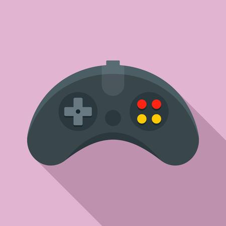 Ergonomic joystick icon. Flat illustration of ergonomic joystick vector icon for web design