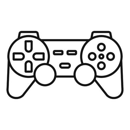 Ergonomic joystick icon. Outline ergonomic joystick vector icon for web design isolated on white background