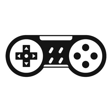 Video game joystick icon, simple style