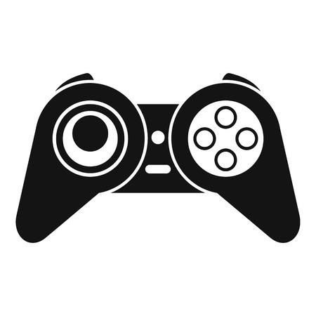 Retro game joystick icon, simple style