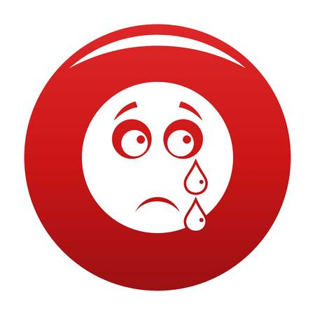 Cry smile icon vector illustration