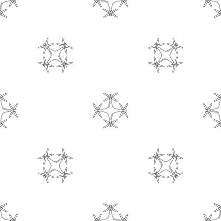 Copter drone pattern seamless vector repeat geometric for any web design