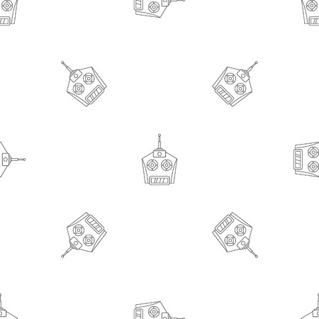 Drone remote control pattern seamless vector repeat geometric for any web design