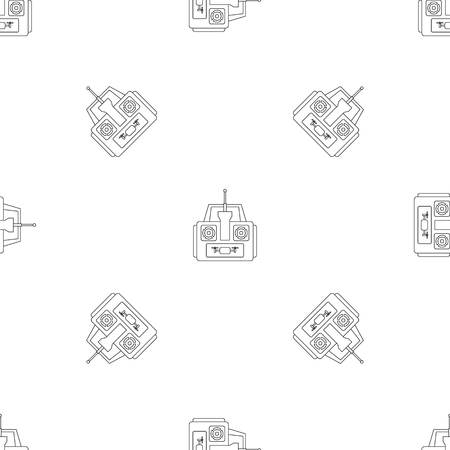 Aerial drone remote control pattern seamless vector repeat geometric for any web design