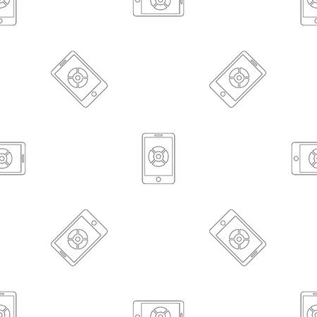 Smartphone drone control pattern seamless vector repeat geometric for any web design