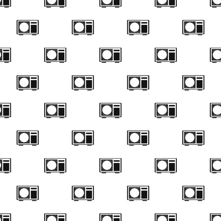 Outdoor conditioner radiator pattern seamless vector repeat geometric for any web design