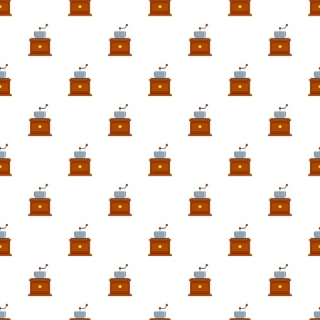 Coffee grinder pattern seamless vector repeat for any web design