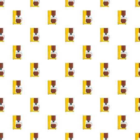 Coffee maker pattern seamless vector repeat for any web design Illustration