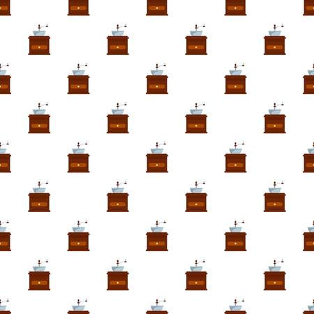 Coffee mill pattern seamless vector repeat for any web design Illustration