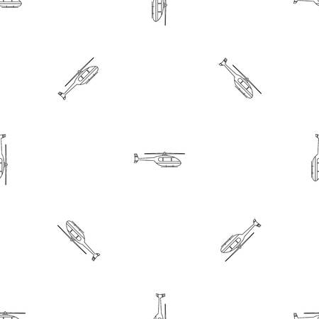 Utility helicopter pattern seamless vector repeat geometric for any web design Illustration