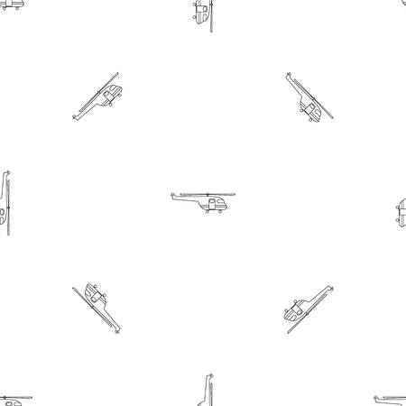 Rescue helicopter pattern seamless vector repeat geometric for any web design Illustration