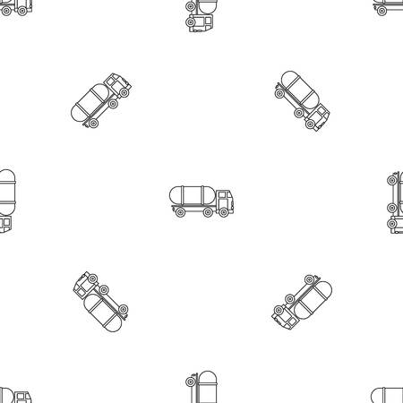 Tanker truck pattern seamless vector repeat geometric for any web design Imagens - 124588992